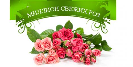 Логотип компании Миллион свежих роз