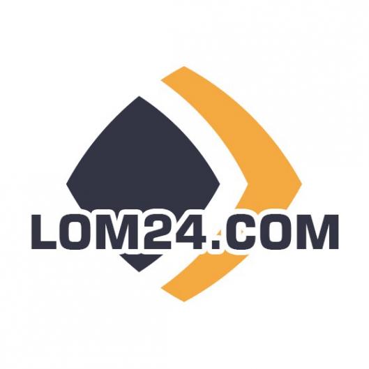 Логотип компании ЛОМ24 Прием металлолома