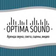 """Логотип компании Компания """"OptimaSound"""" - аренда оборудования для праздников"""